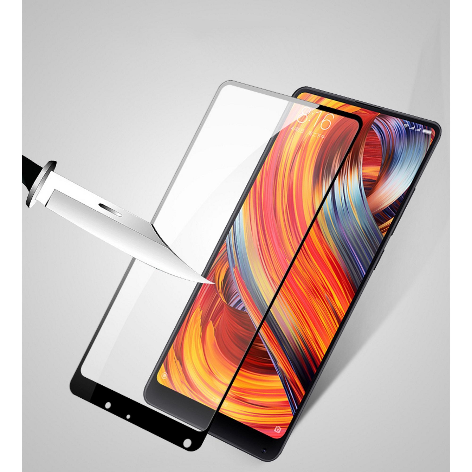 ... Premium 5D Full Screen Tempered Glass Curved Screen Protector for Xiaomi Mi Mix 2 (Black ...