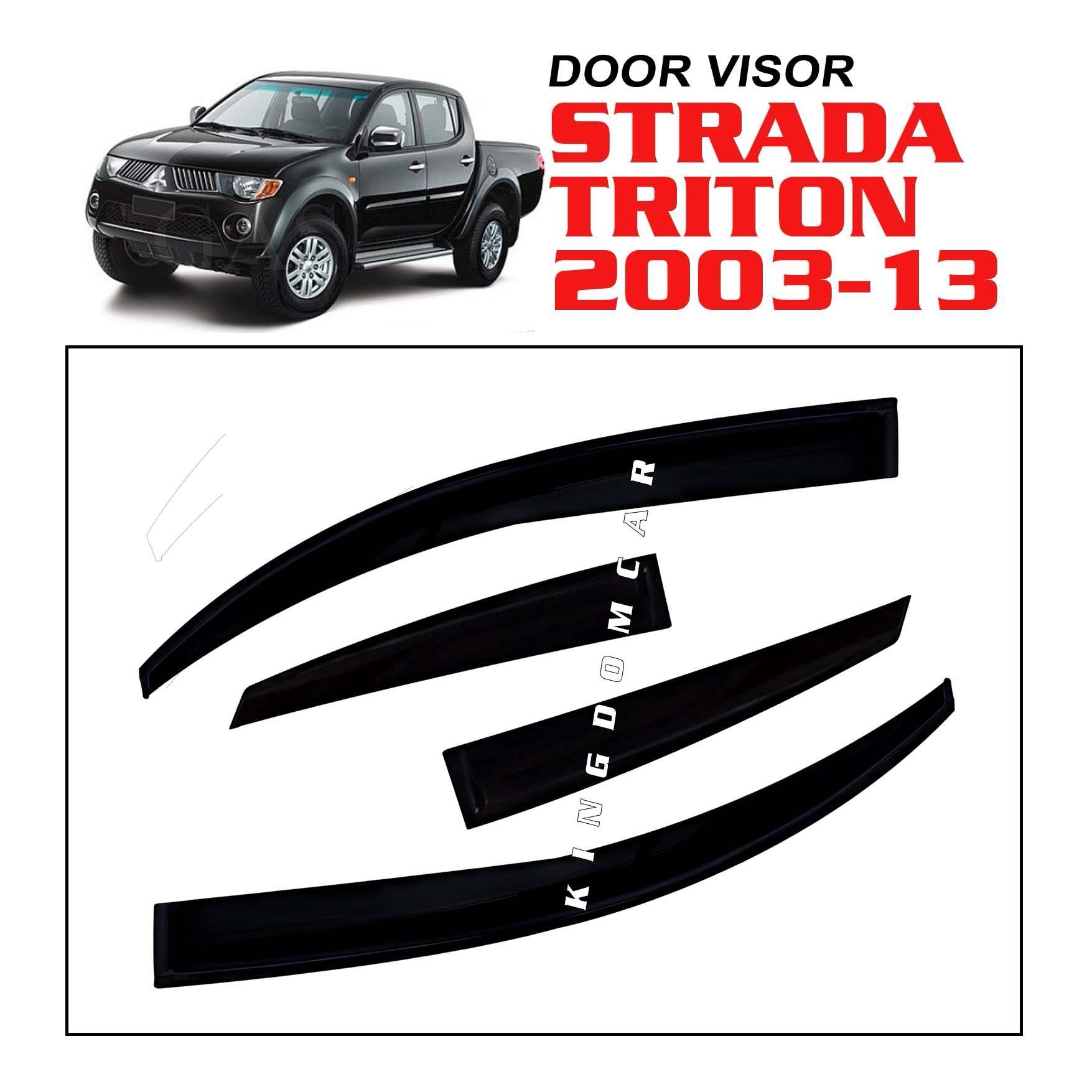 Discount Rain Guard Or Window Visor For Mitsubishi L300 Fb Grill Bumper Mistubishi New Strada Triton 2006 2014