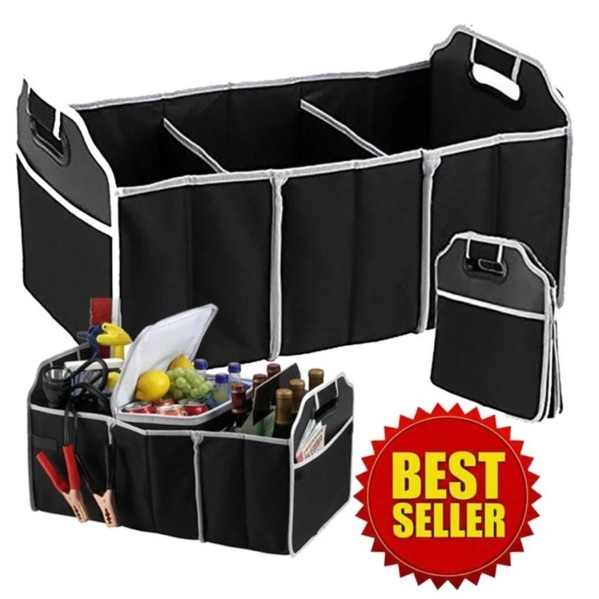 Car Boot Organizer Collapsible Storage Basket Fordable For Trunk