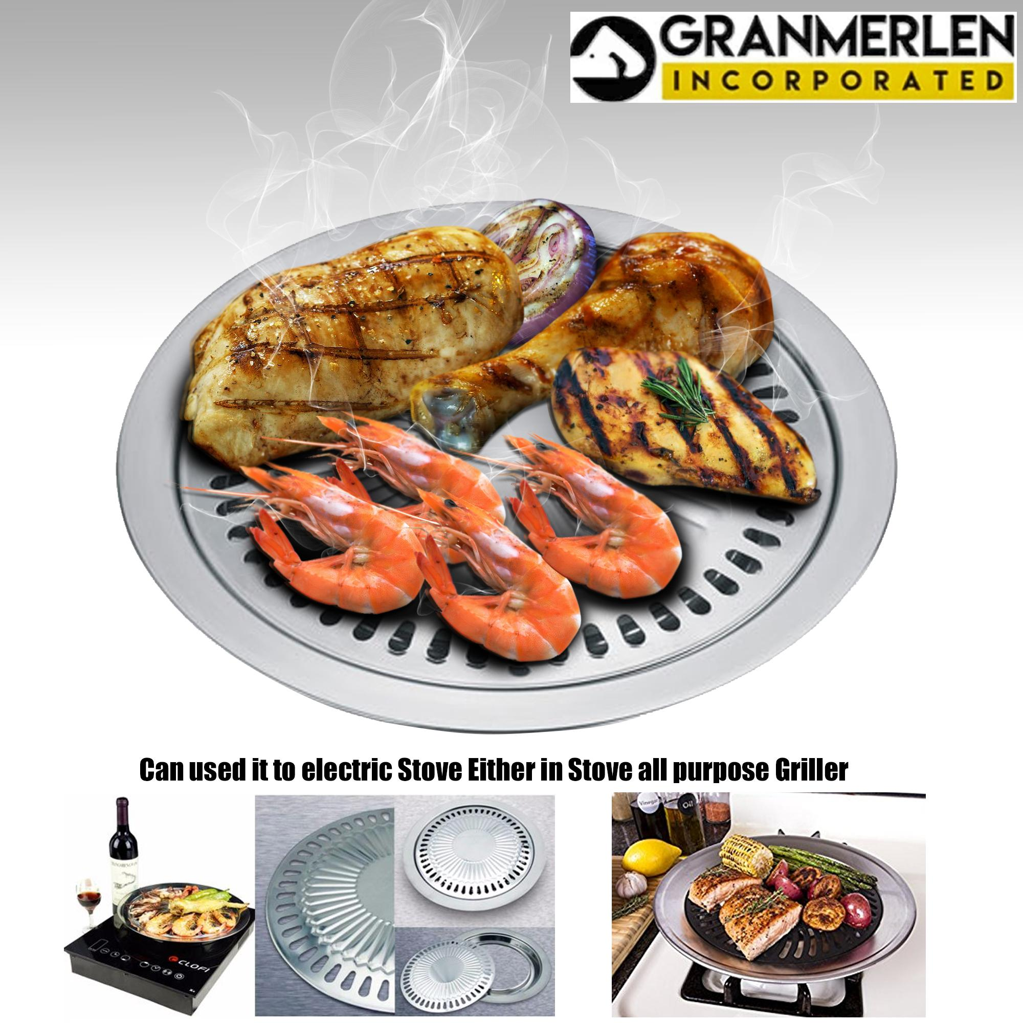 smokeless-1.jpg. The Indoor Barbeque Grill converts any stove to a healthy natural ...