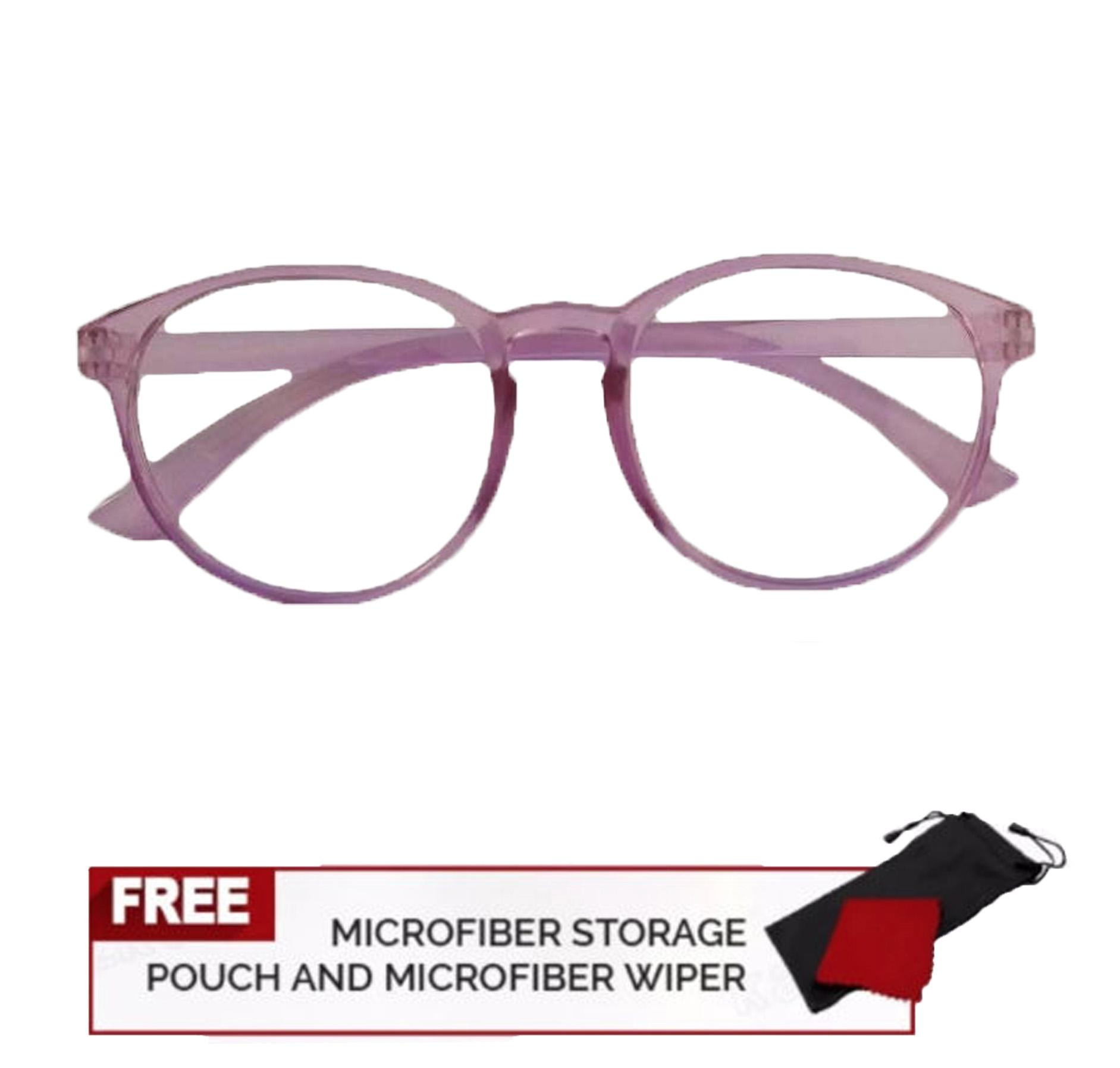 83f1723217 Classic Lavender Frame Aviator Cat Eye Fashion Clear Lens Replaceable Lens  Eyeglasses 15g