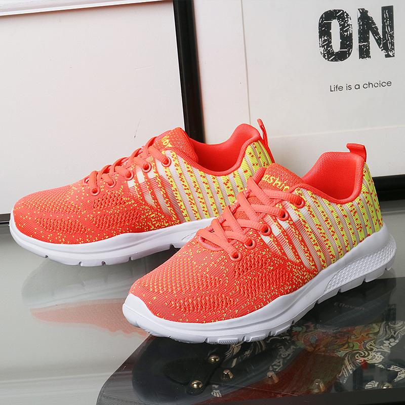 Wholesale Mon High Quality Women Fly Line Running Shoes Comfortable Sport Gym Sneakers