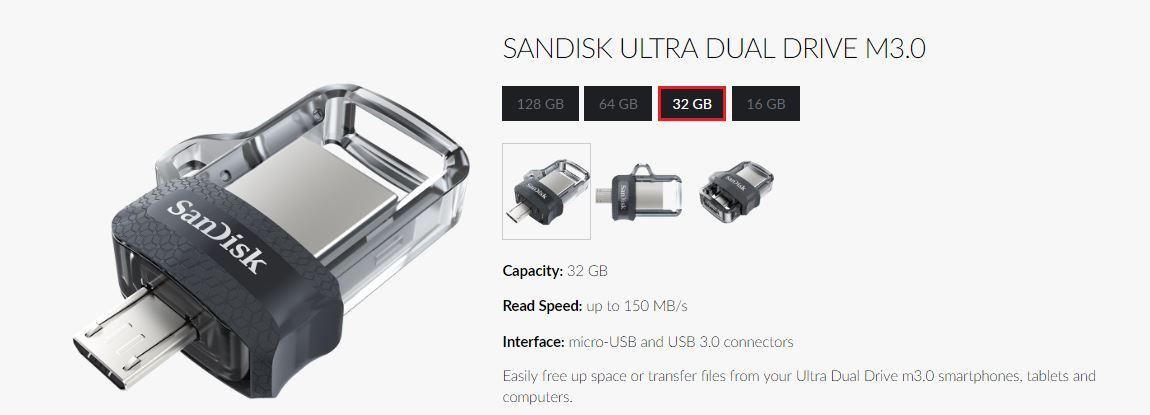 When your day is filled with work and other important things, a dependable USB can be your savior. Let the Sandisk SDDD3-032G-G46 OTG Dual Drive 32GB ...