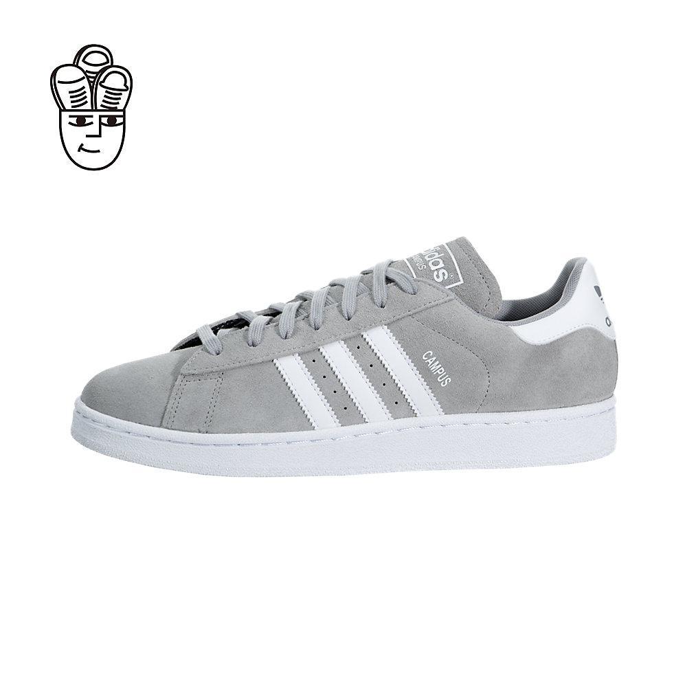 filippine adidas campus grigio / bianco grigio d70182 retrò le scarpe...