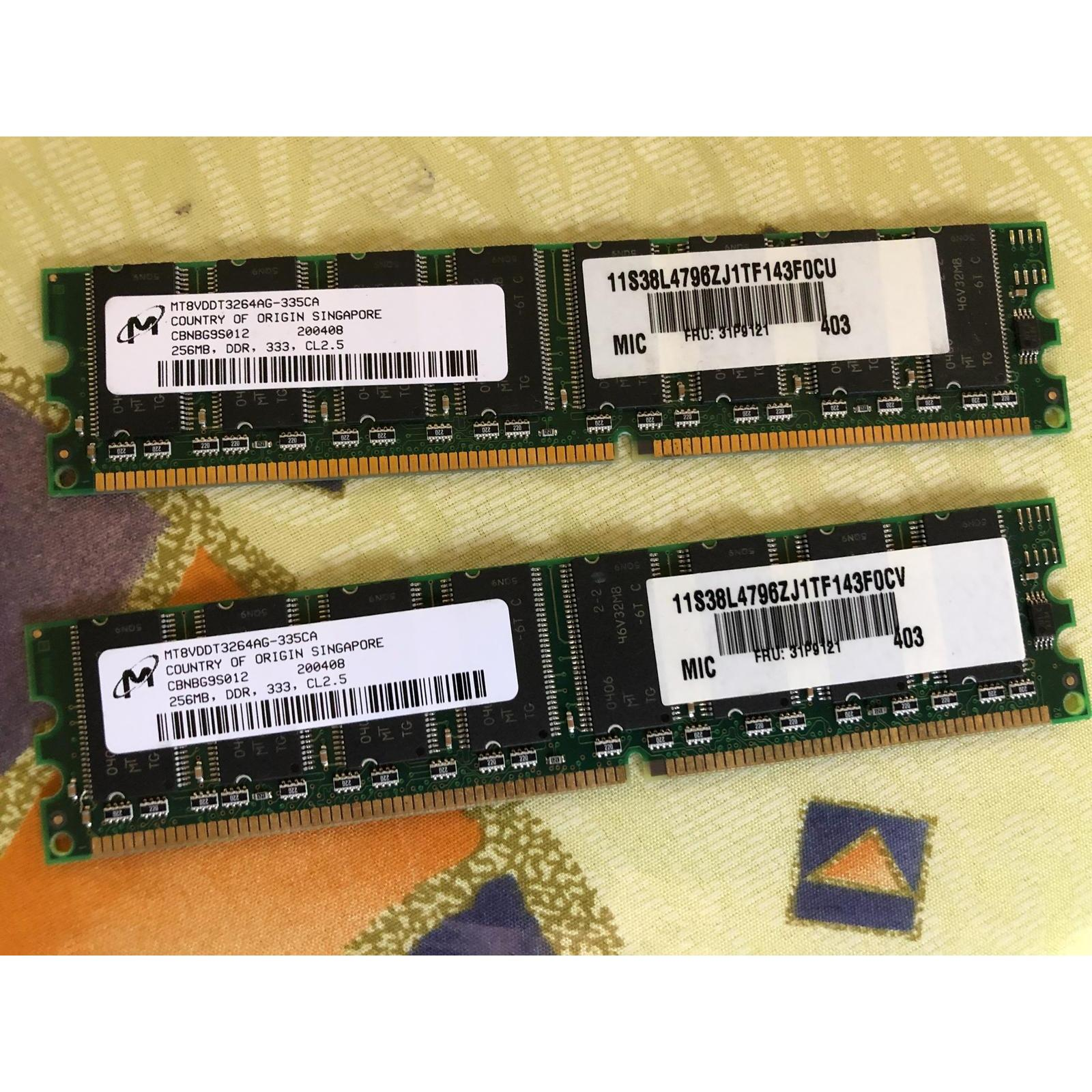 The Cheapest Price 512mb 2x 256mb Ddr 333mhz Ram Pc2700u 184pin Ddr1 1 512 Mb 256mbddr Pc Memory Computer