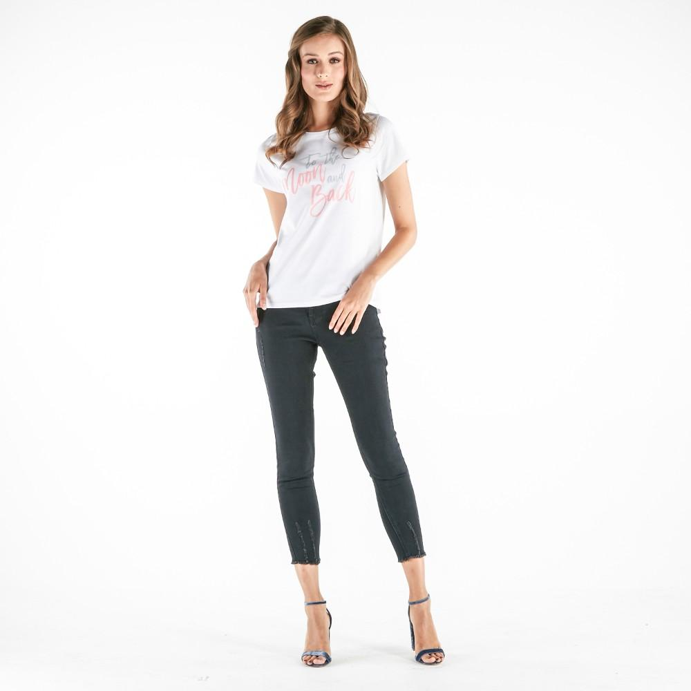 Forme Tee With Graphic Print (White) - 4