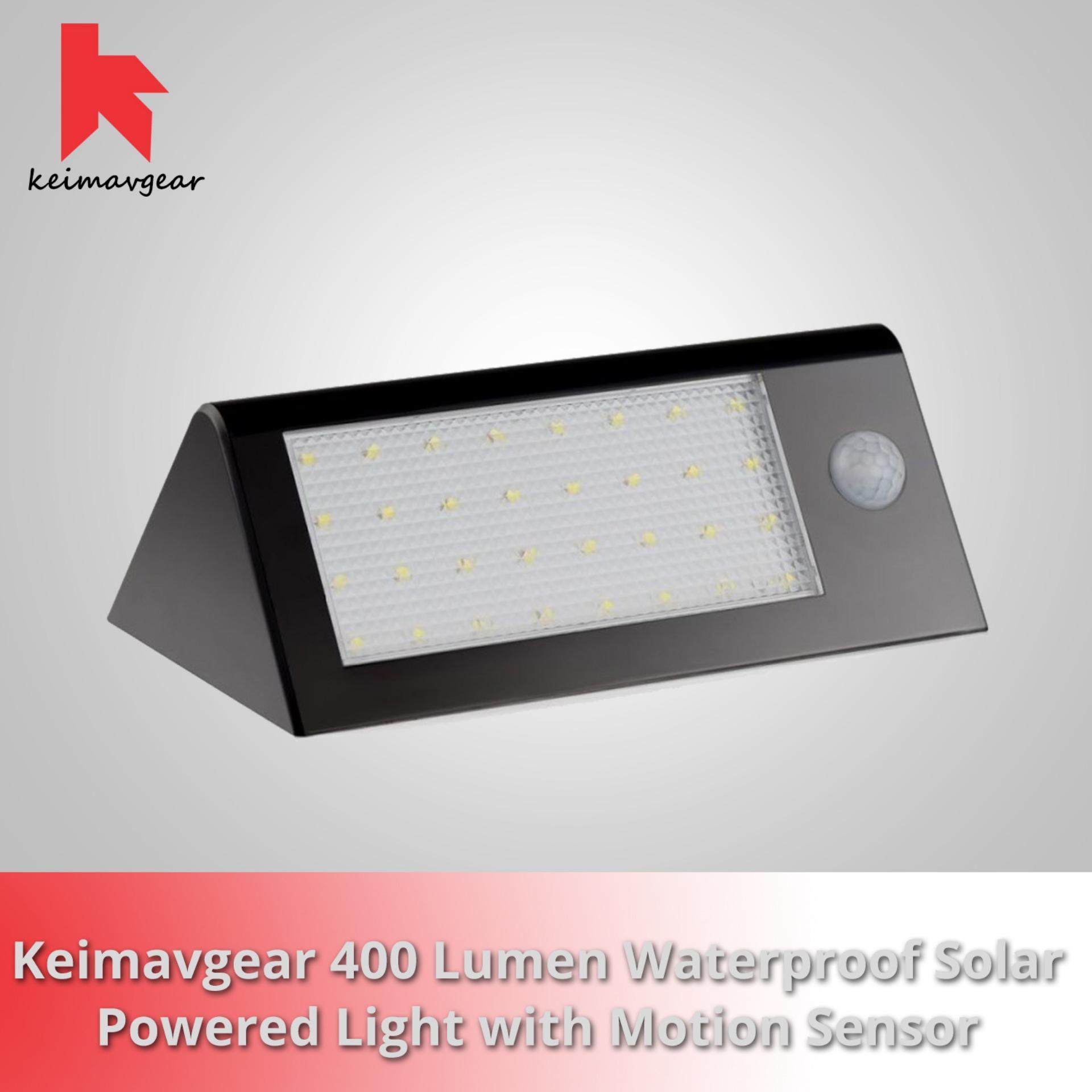 Complete Keimavgear 400 Lumen Waterproof Solar Powered Outdoor Motion Sensor Detector Wall Light Product Preview