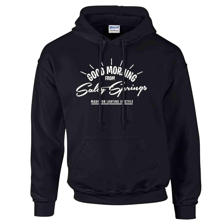 iGPrints Good Morning from Salty Springs FORTNITE Design Hoodie Jacket Black