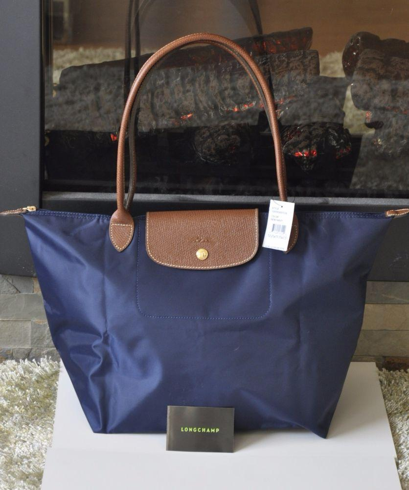 Longchamp Made In France Le Pliage Large Long Handle Navy Blue Lc006 Llh Specifications Of