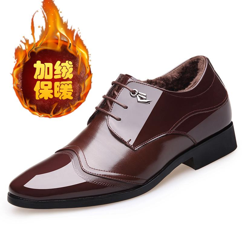 The groom New style men elevator business leather shoes