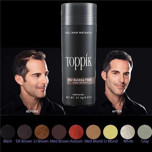 Toppik Hair Fiber (BLACK) Keratin Hair Building Styling Powder Hair Loss Concealer Blender Salon