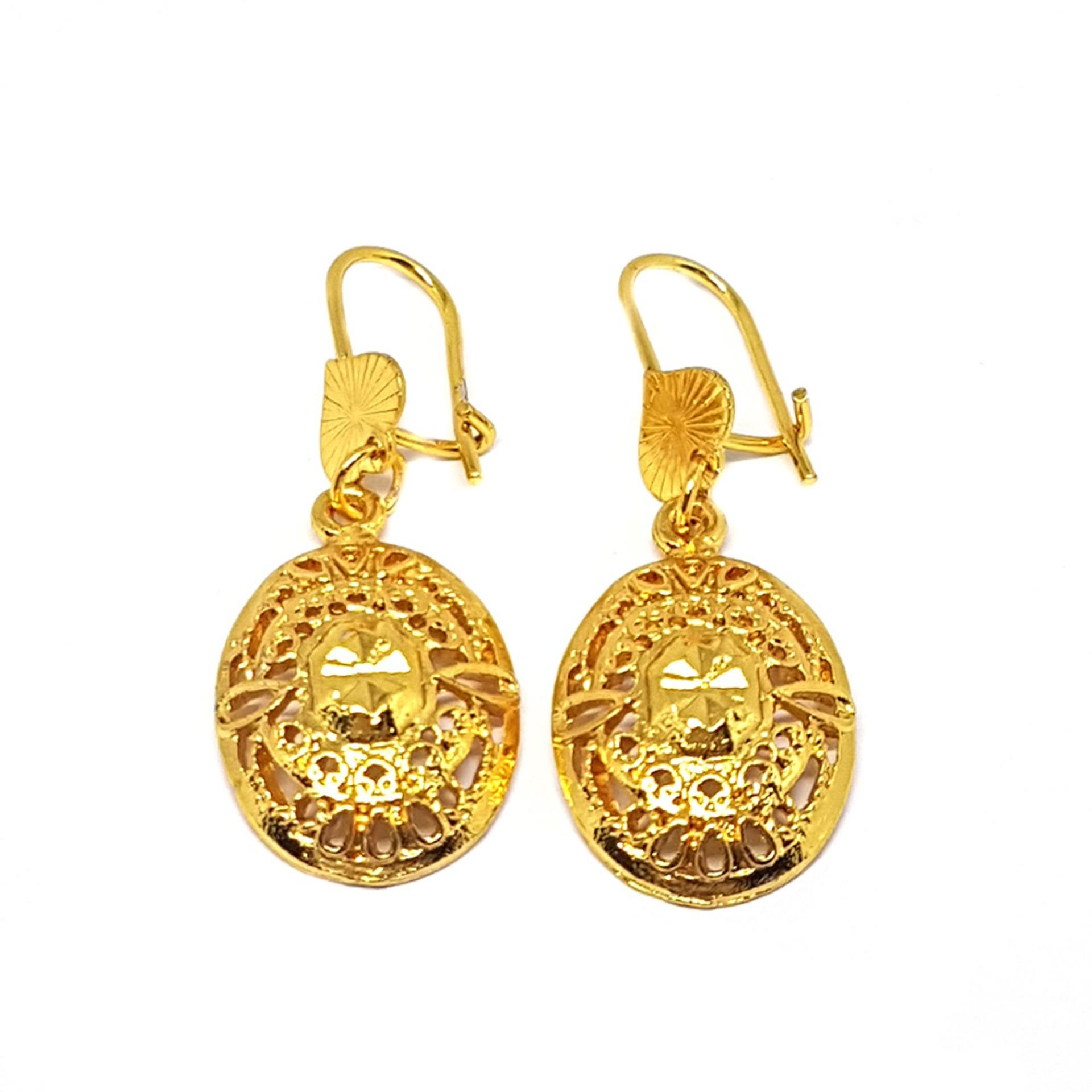Jewelworld 24k Gold Plated Antique Style Drop Earrings ...