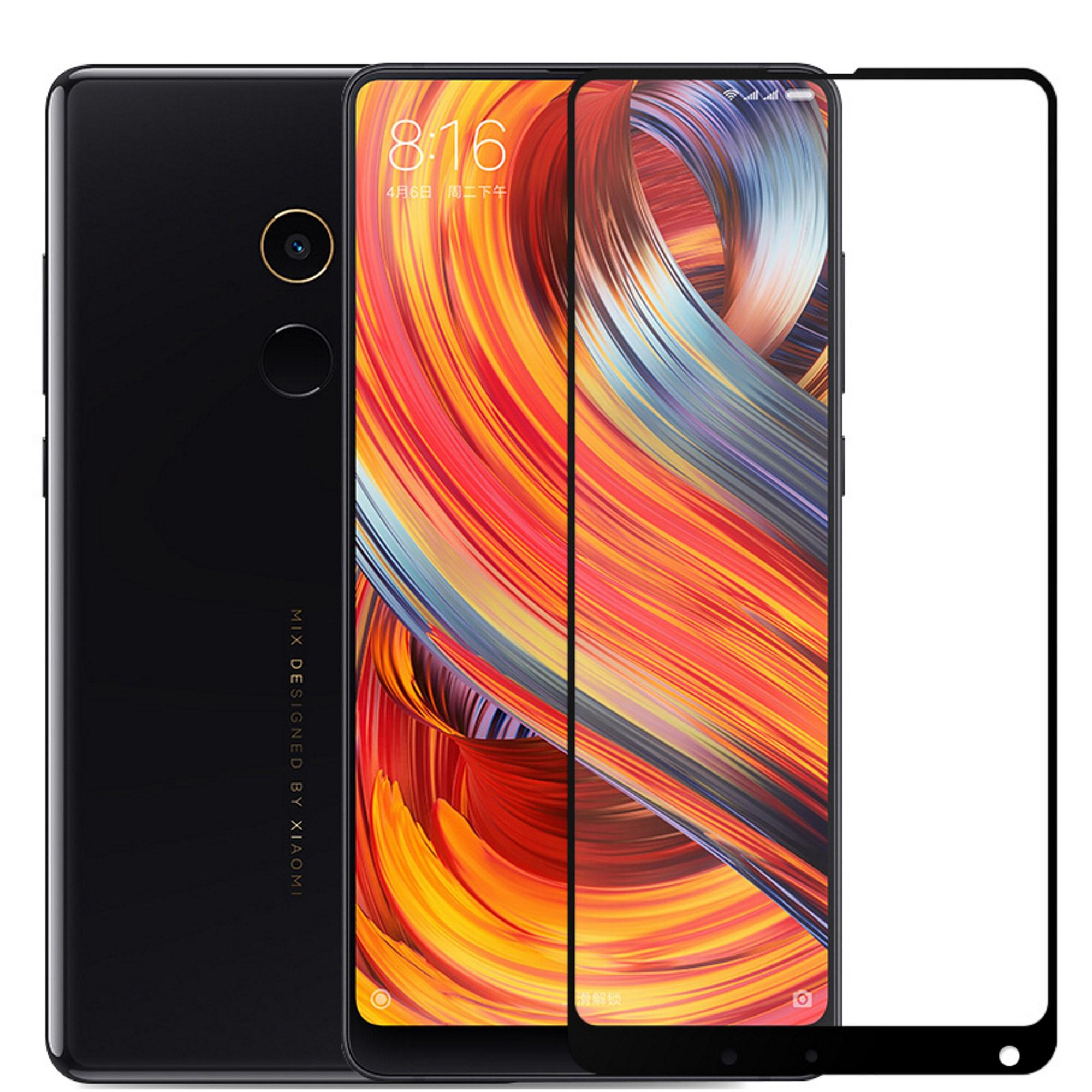 The Price Of 2pcs For Xiaomi Mix 2s Tempered Glass Screen Protection Redmi Note 5 Note5 Color 25d Full Cover Premium 5d Curved Protector Mi 2 Black