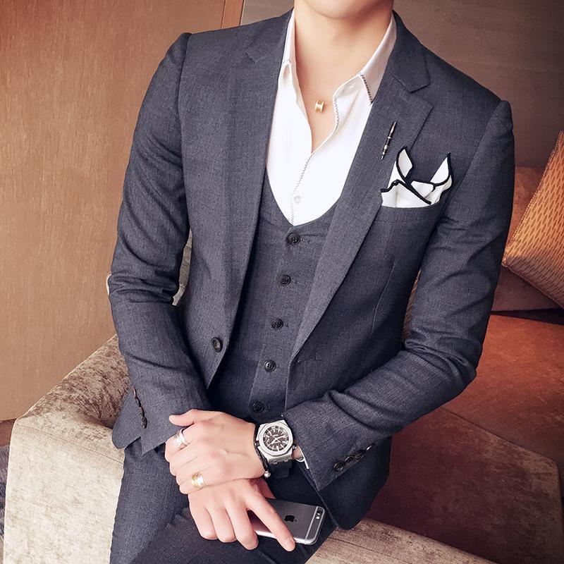 The groom Korean-style men Slim fit wedding dress for women suit