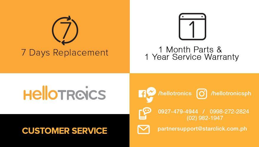 (2) 1 MONTHS PARTS & 1 YEARS SERVICE WARRANTY.jpg