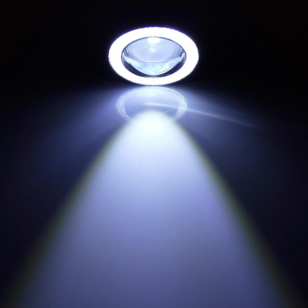 Leifen 2Pcs Car 3.0'' LED Fog Light COB Angel Eyes Lens Daytime Running Lights