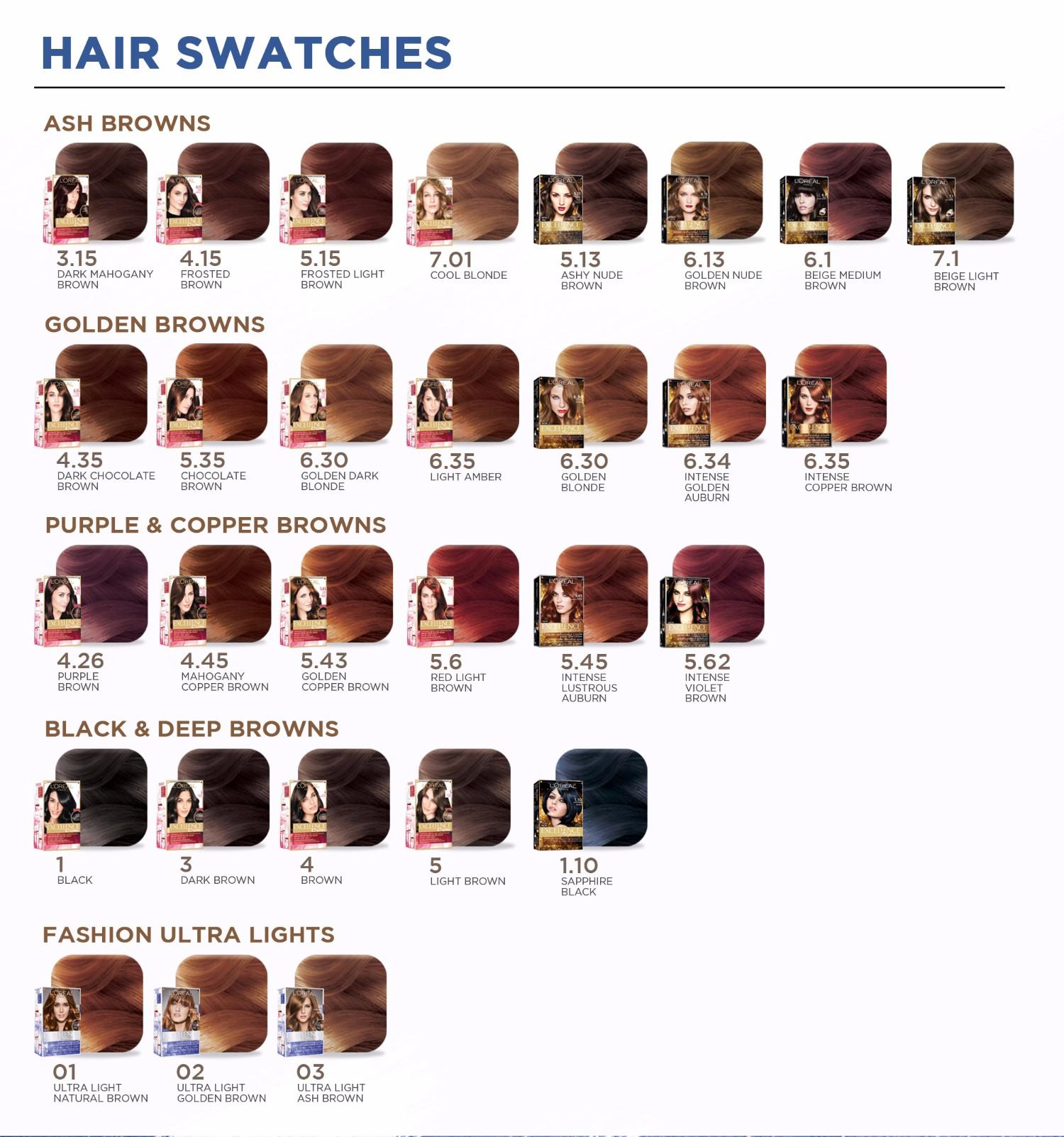 Loreal Preference Hair Color Chart Morenpulsar