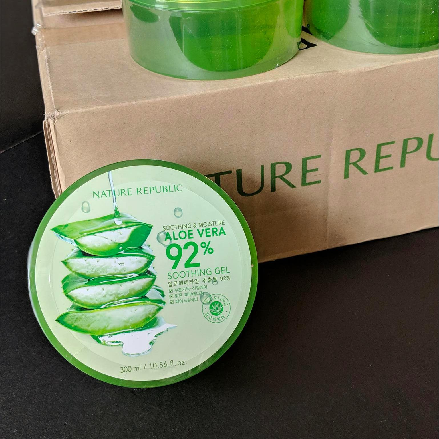 The Price Of Nature Republic 100 Authentic Aloe Vera Soothing Gel 92 300ml Original From Korea