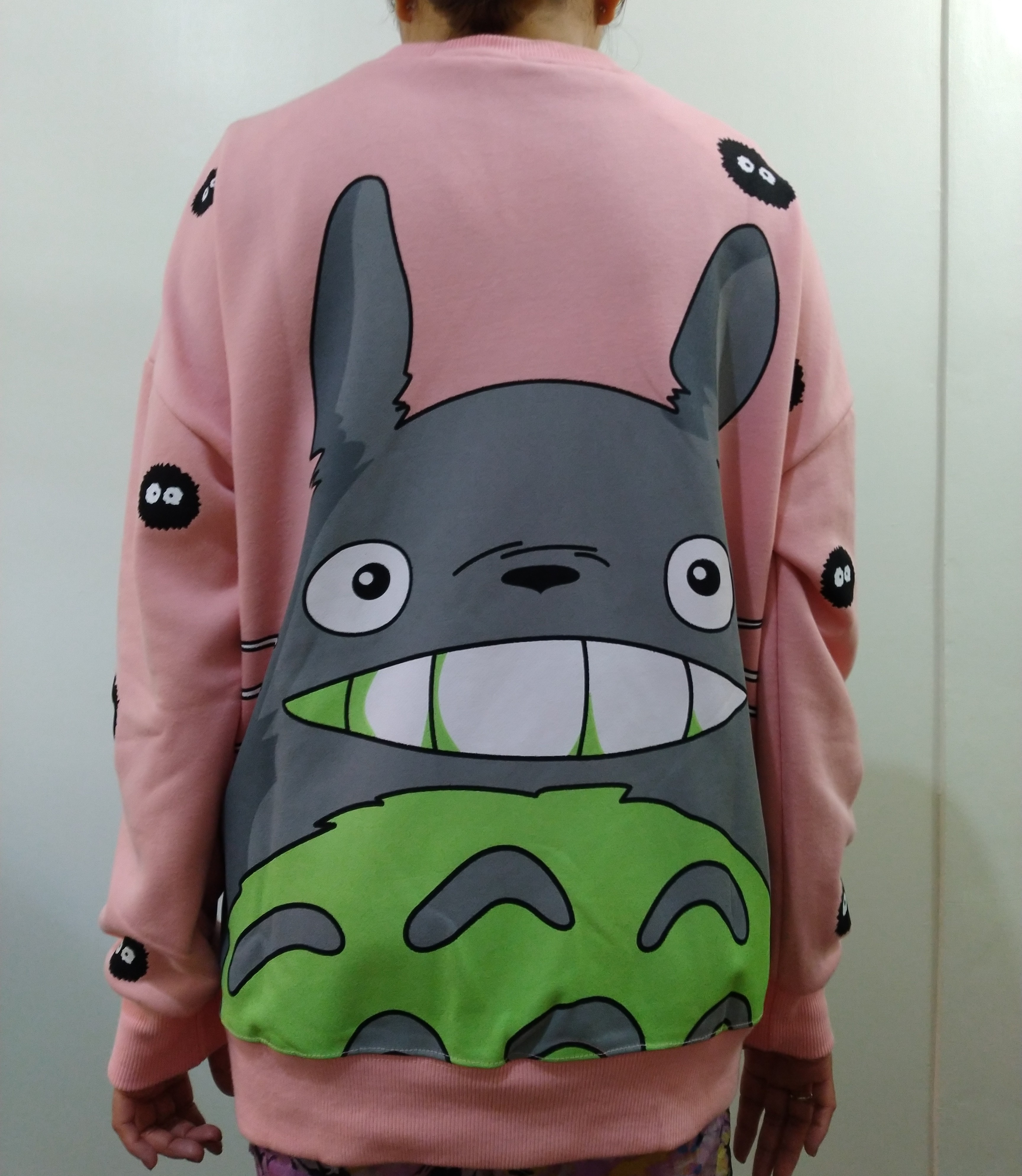 Spring Clothing Japanese-style Sweet Kawaii College Style Cute Adorable  Cartoon Totoro Students Loose Sweater women Long Sleeve