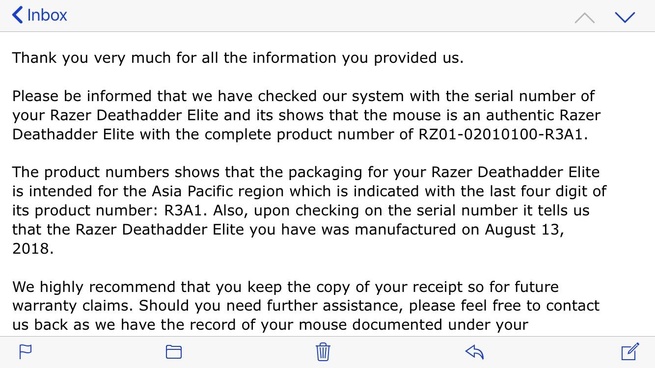 Razer Deathadder Elite Mechanical Gaming Mouse