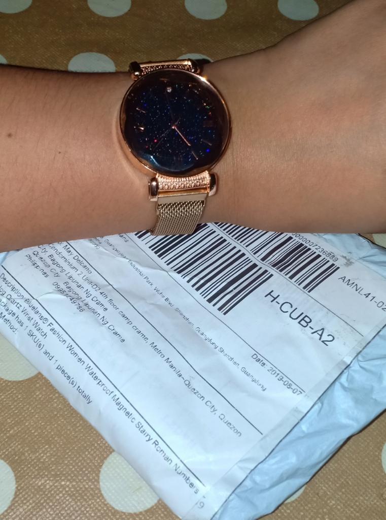 Bluelans® Fashion Women Waterproof Magnetic Starry Roman Numbers Analog  Quartz Wrist Watch
