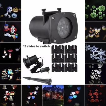 waterproof laser projector lamps led stage light santa claus heart snow christmas landscape garden lamp outdoor lighting christmas version