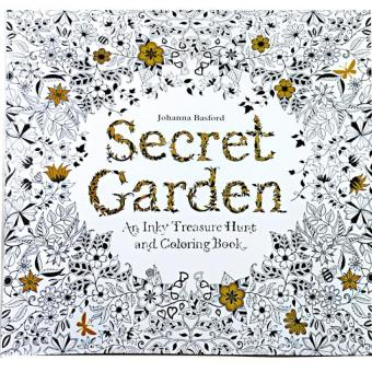 1pcs Secret Garden 2016 New An Inky Treasure Hunt And Coloring Book For Children Adult Relieve Stress Kill Time Graffiti Painting Drawing