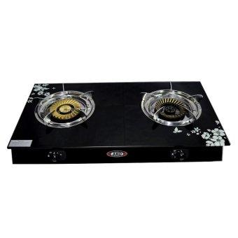 gas stove clipart black and white. ako ls-3 glass stove double burning (black) gas clipart black and white