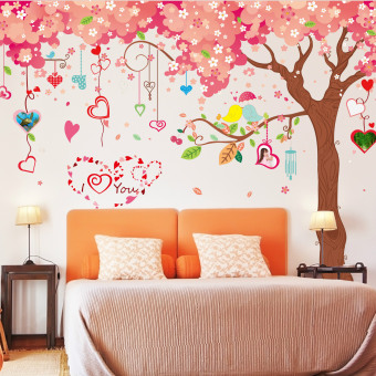 Very Large Cherry Wall Decoration Stickers (Pink 12) Part 70