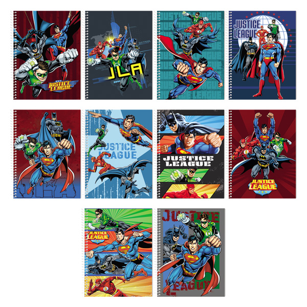 Image of Orions Justice League Spiral Notebook Set of 10