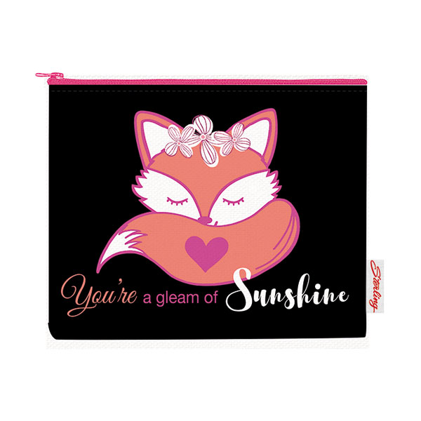 Image of Sterling You're a Gleam of Sunshine Big Fabric Pouches