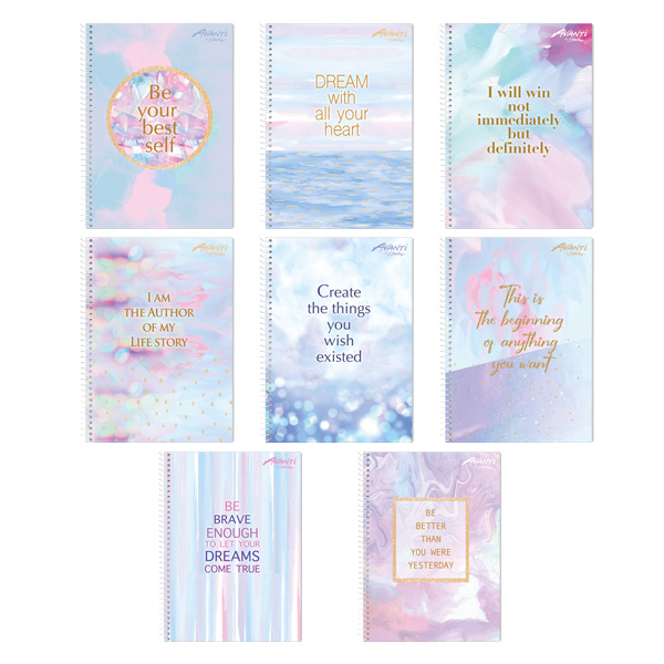 Image of Avanti Pastel Dreams Premium Spiral Notebook Set of 8