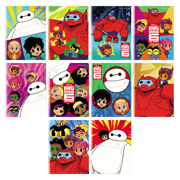 Image of Orions Disney Big Hero 6 Writing Notebook Set of 10