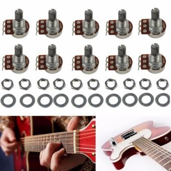 10 pcs A500K Split Shaft Pots Potentiometer Guitar Audio Tone Switch