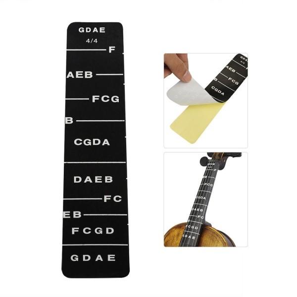 1pcs Fretboard Fingerboard Fret Finger Chart Guide Label Sticker Poster for Full 4/4 Size Violin Fiddle Malaysia