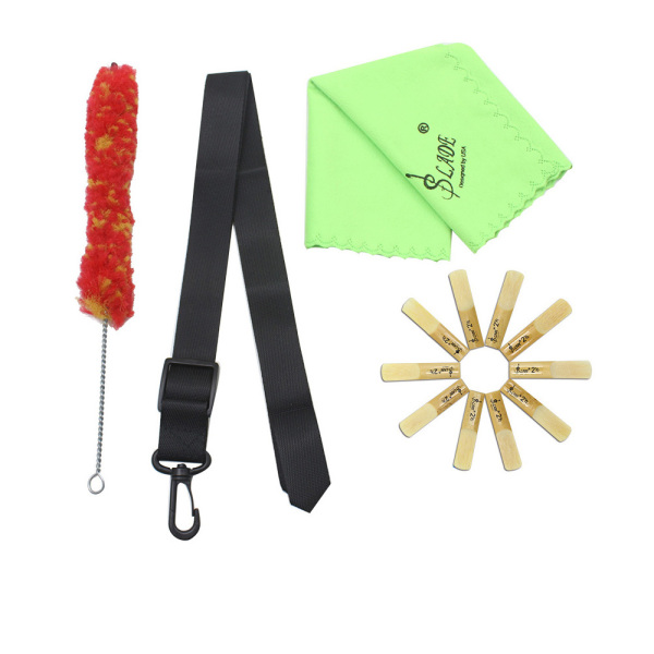 5-in-1 Clarinet Adjustable Neck Strap Bamboo Reed Cleaning Cloth Brush Accessories Kit Malaysia