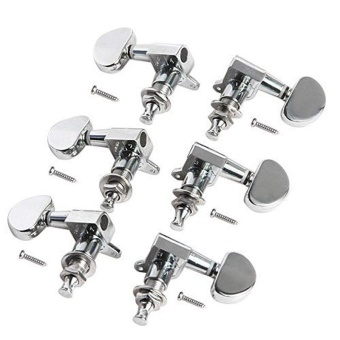 6pcs 3L3R Acoustic Guitar Tuning Pegs Machine Head Tuners Chrome Guitar Parts - intl