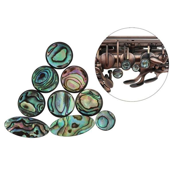 9pcs Colorful Abalone Shell Key Button Inlays for Tenor/ Alto/ Soprano Sax Saxophone Malaysia
