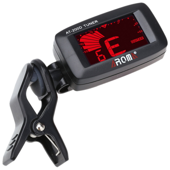 AROMA AT-200D Guitar Electric Tuner For Guitar/ Bass/Ukulele/Violin (Black)