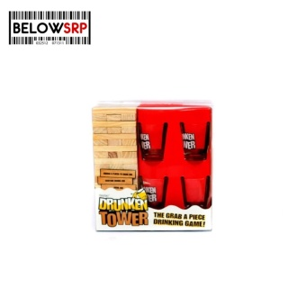 Below SRP Drunken Tower Game with 4 Shot Glasses Party Game ( Clear)
