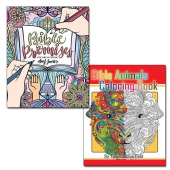 Bible Animals Coloring Book + Bible Promises Coloring Book Price Philippines