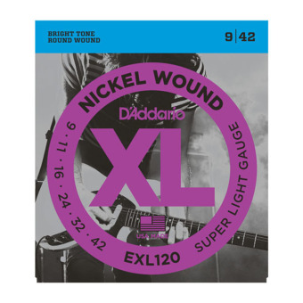 D'Addario EXL120 Super Light 9-42 Nickel Wound