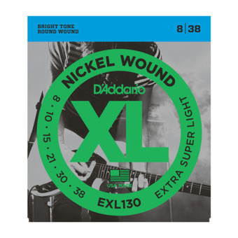 D'Addario EXL130 Extra-Super Light 8-38 Nickel Wound