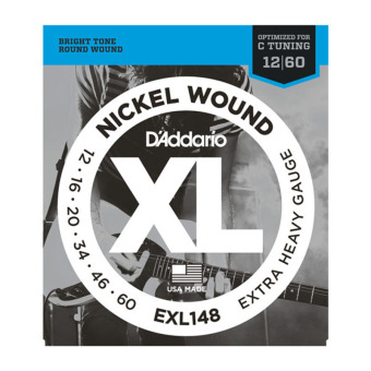 D'Addario EXL148 Extra-Heavy 12-60 Nickel Wound