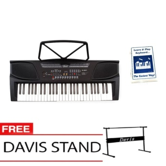 Davis D-201 Hot Picks Digital Keyboard (Black) with Free LearningModule & Davis Stand Price Philippines