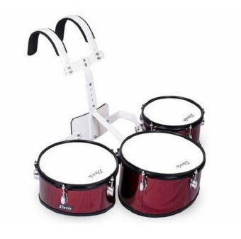 Davis Triple Marching Drums (Wine Red) Price Philippines