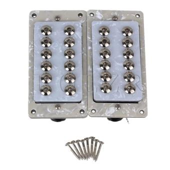 Electric Guitar Humbucker Pickups Double Coil Set of 2 White Pearl