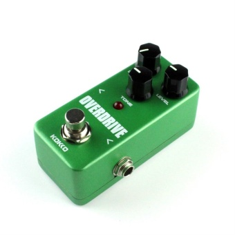 Gift Mini Vintage Overdrive Guitar Effect Pedal Overload Guitar Stompbox FOD3 Green - intl