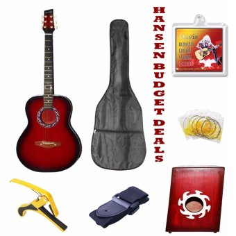 Hansen Swak Budget Deals Acoustic Guitars (Red)
