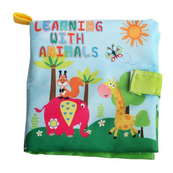 Harga Soft Cloth Book Infant Educational Newborn Learning Book (Animal) - Intl